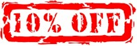 10% off for packaging supplies, janitorial supplies, etc.